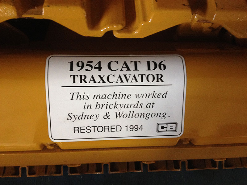 Cleary Bros 1954 CAT D6 Traxcavator