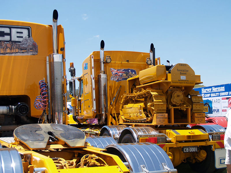 Cleary Bros Trailer with D2 Dozer