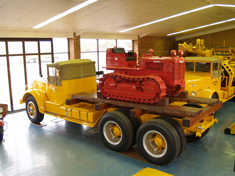 Cleary Bros Vintage Trailer With Mini Dozer