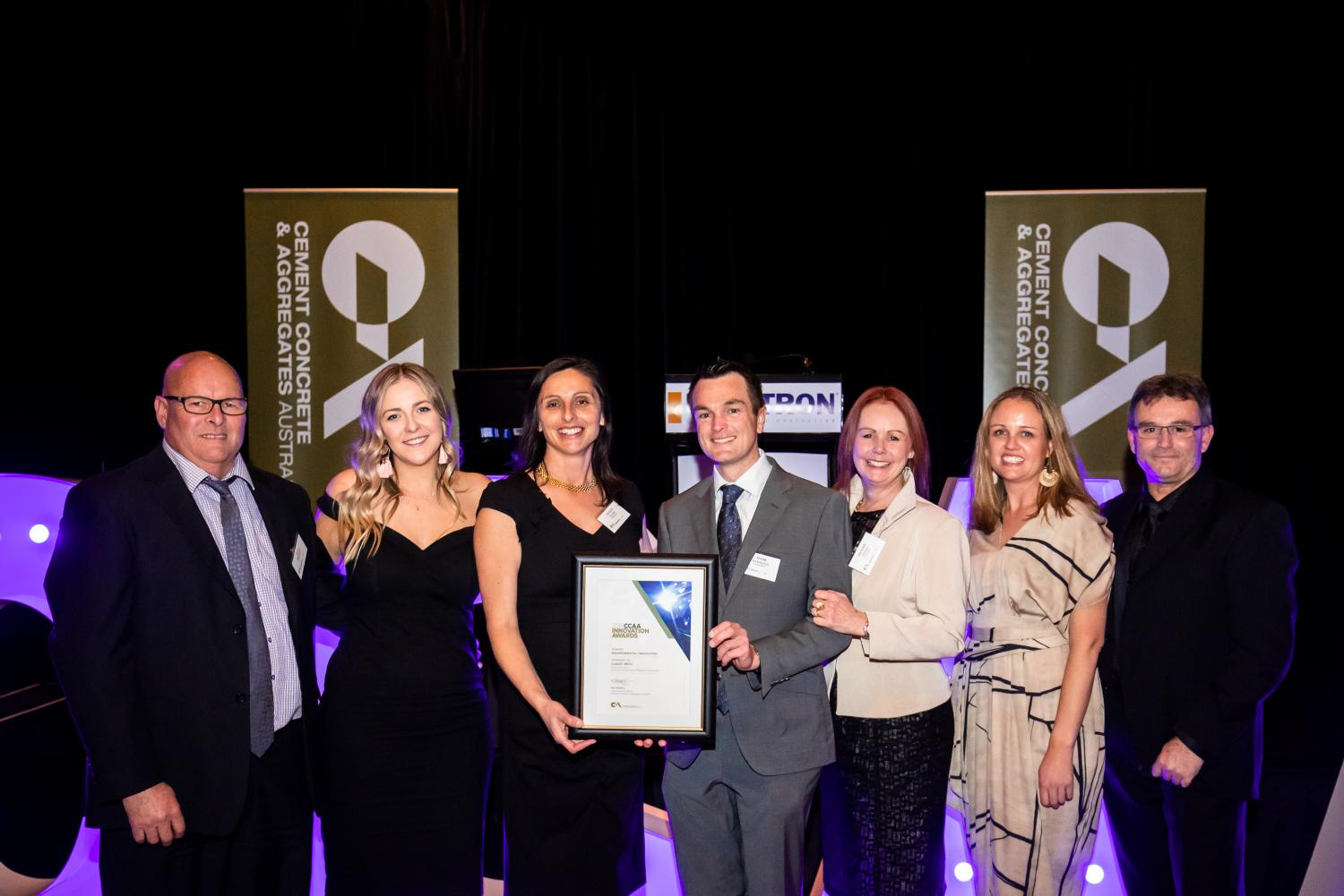 Cleary Bros Team with the 2018 NSW CCAA Environmental Innovation Award